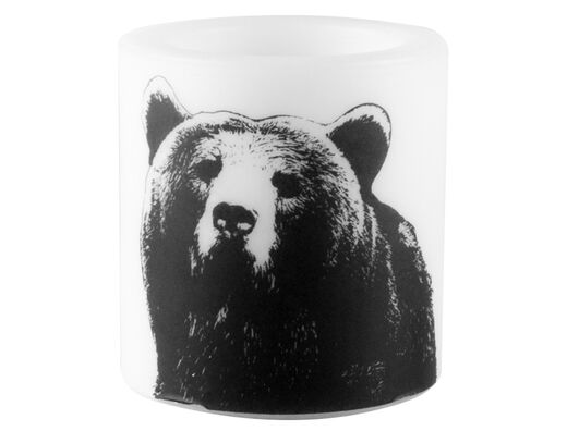 Nordic candle, 8cm, The Bear