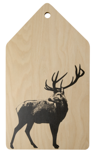 Nordic cutting/serving board, 20x35cm, The Deer