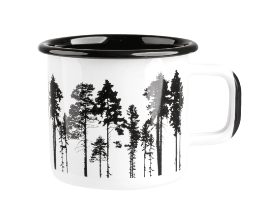Nordic enamel mug, 3,7 dl, The Forest