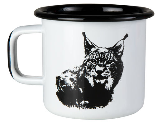Nordic enamel mug, 3,7dl, The Lynx