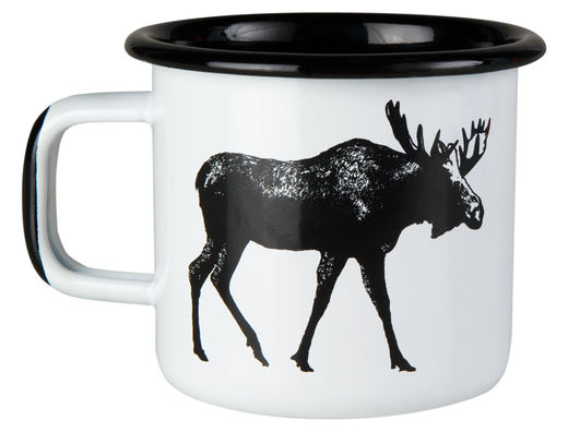 Nordic enamel mug, 3,7dl, The Moose