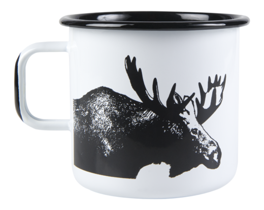 Nordic enamel mug, 8dl, The Moose