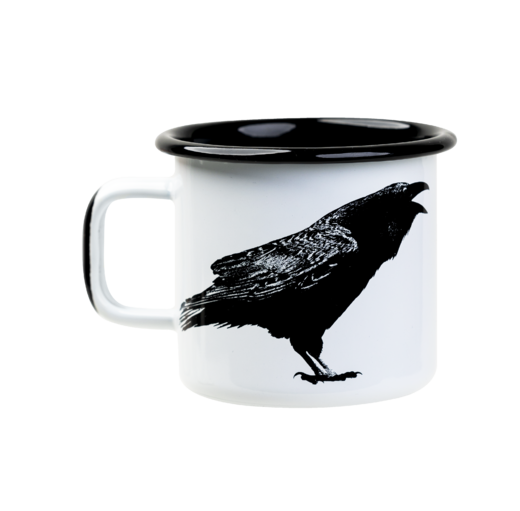 Nordic enamel mug, 3,7 dl, The Raven