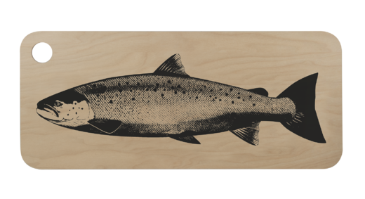 Nordic Cutting/serving board 20x46cm, Salmon