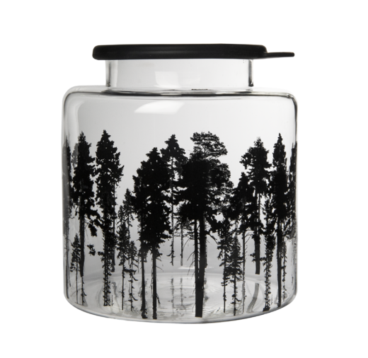 Glass jar 3 l with silicone lid, Forest