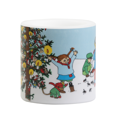 Pippi candle, 8cm, Christmas time