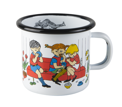 Pippi enamel mug, 2,5dl, Cup of coffee