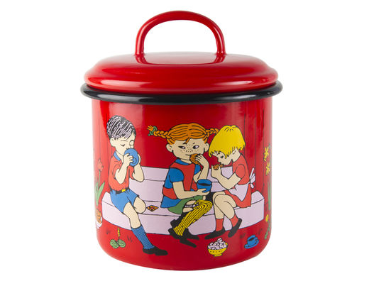 Pippi enamel jar, 1,3l, Cup of coffee