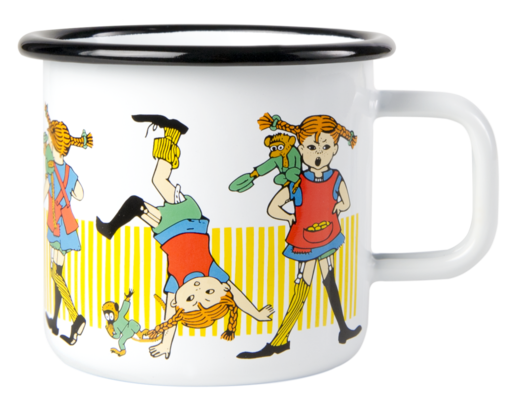 Pippi enamel mug, 3,7dl, Pippi Longstocking