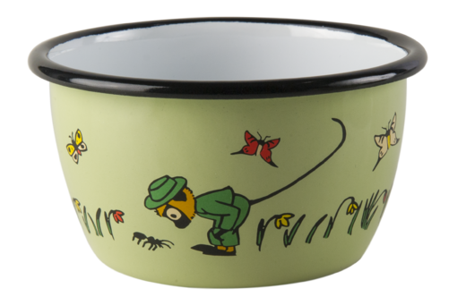 Pippi enamel bowl, 3dl, Mr. Nilsson