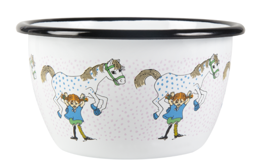 Pippi and the Horse enamel bowl, 6 dl
