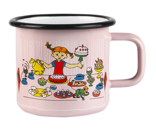 Pippi Enamel Mug, 3,7 dl, Birthday Party