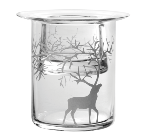 Reindeer tea light holder, 10cm