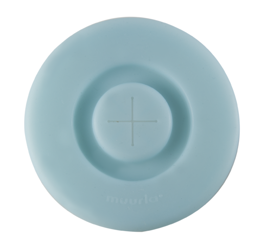 Silicone lid, light blue