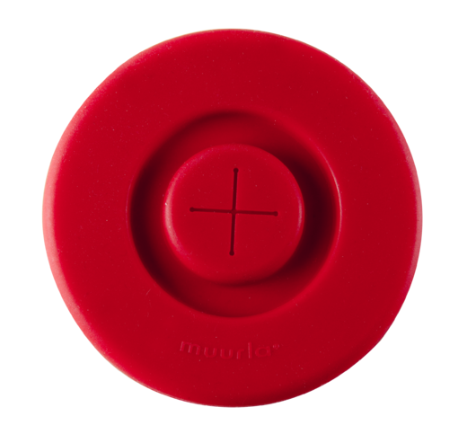 Silicone lid, red