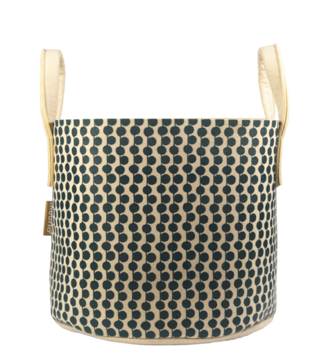 Storage Basket Berries beige/green 30L