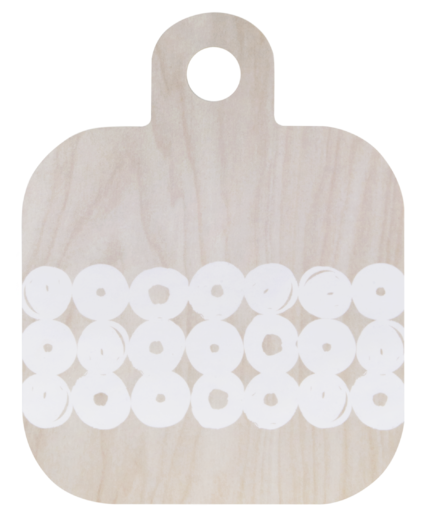 Cutting/serving board 25x32cm, light birch/white