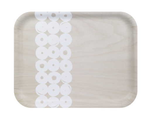 Muurla Tray light birch/white 36x28cm