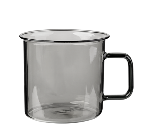 Glass Mug grey 3,5dl