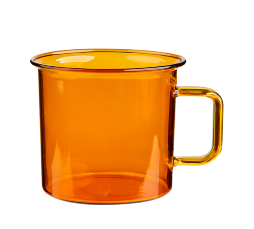 Glass Mug amber 3,5dl