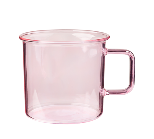 Glass Mug pink 3,5dl