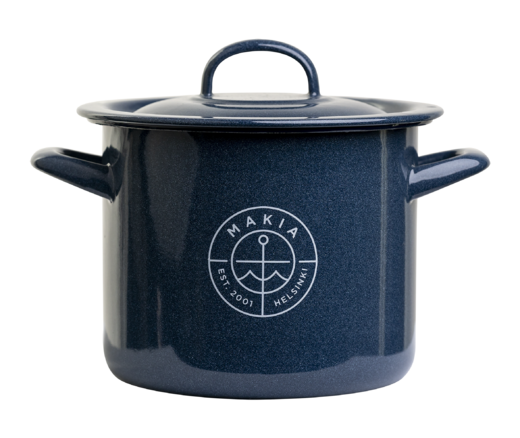 Makia Enamel Pot, 2,5 L, Blue