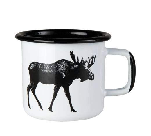 Nordic Enamel Mug The Moose 3,7dl