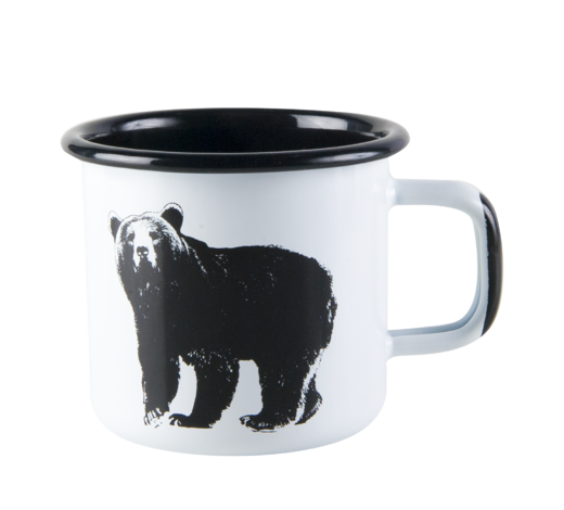 Nordic Enamel Mug The Bear 3,7dl