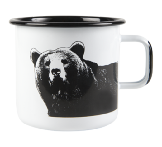 Nordic Enamel Mug The Bear 8dl