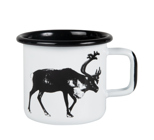 Nordic Enamel Mug The Reindeer 3,7dl