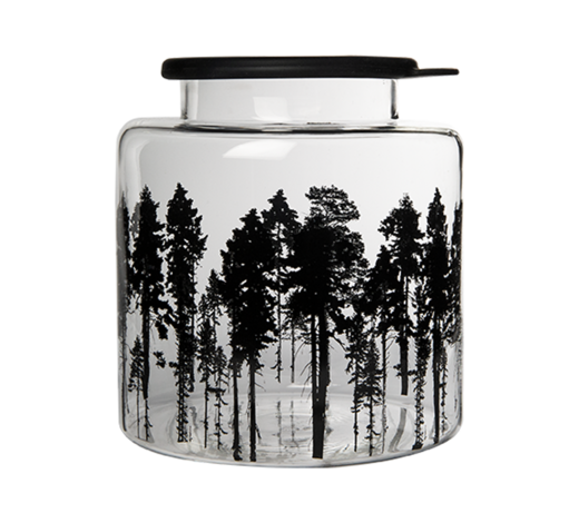 Nordic Glass Jar with silicone lid The Forest 3L