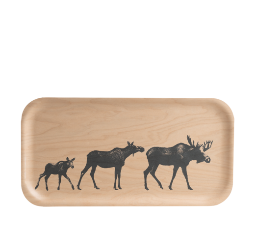 Nordic Tray The Moose family 43x22cm