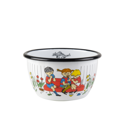 Pippi Enamel Bowl Cup of Coffee 6dl