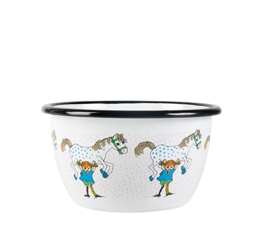 Pippi Enamel Bowl Pippi and the Horse 6dl