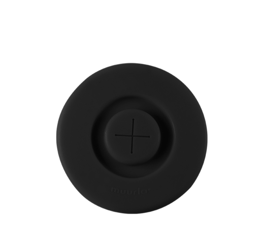 Silicone Lid for a straw black (mugs 3,7dl)