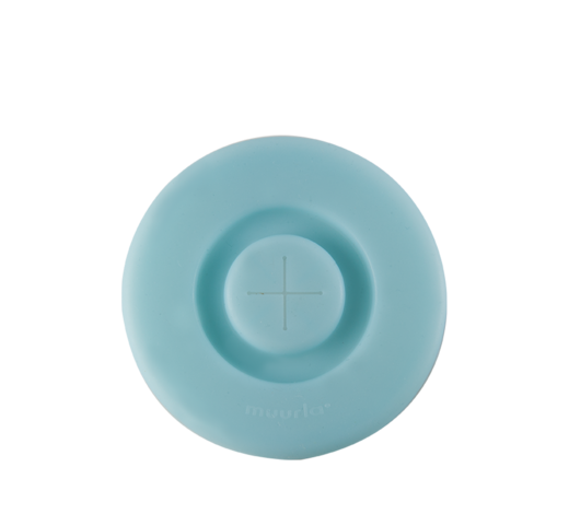 Silicone Lid for a straw light blue (mugs 3,7dl)
