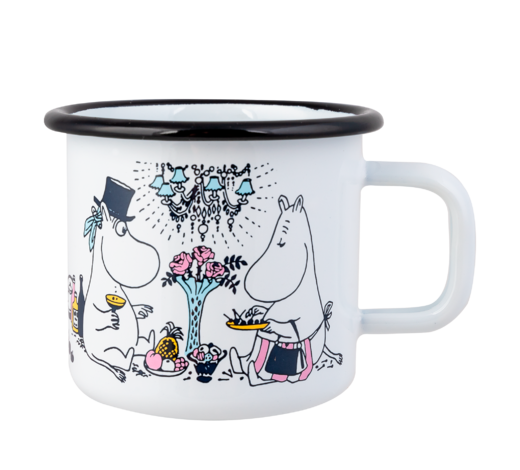 Moomin Enamel Mug Date Night 3,7dl