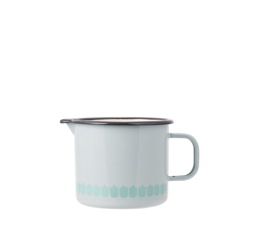 In the Kitchen with Vappu Enamel Jug green 1,3L