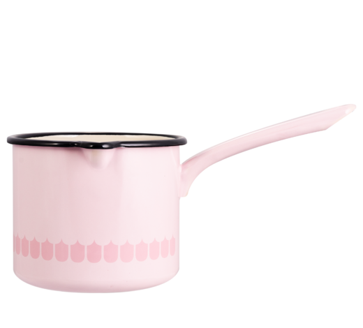 In the Kitchen with Vappu Enamel Saucepan pink 1,9L