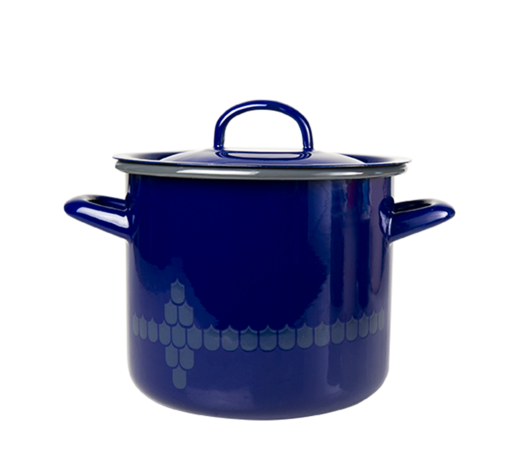 Kitchen series with Vappu Casserole with lid blue 2,5L