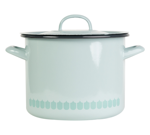 In the Kitchen with Vappu Enamel Pot green 3,5L