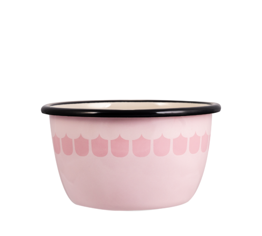 In the Kitchen with Vappu Enamel Bowl pink 6dl