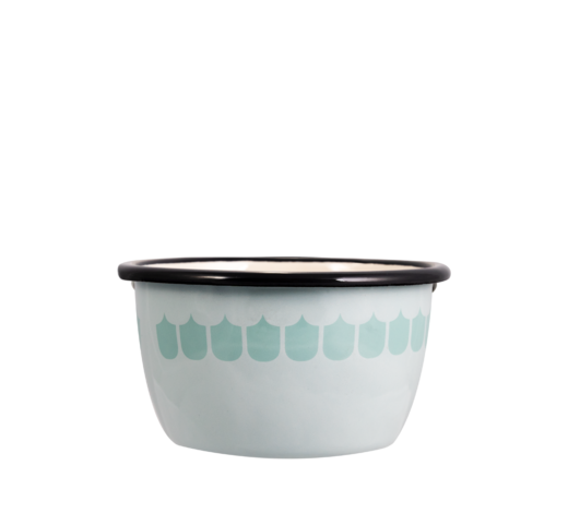 In the Kitchen with Vappu Enamel Bowl green 3dl