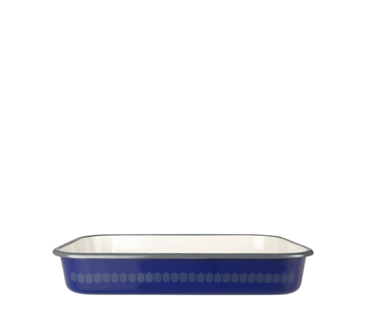 Kitchen series with Vappu Enamel Oven Dish blue 32cm