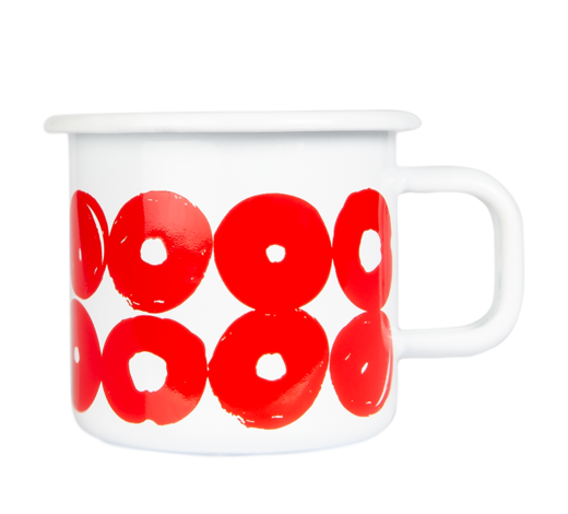 Twirl Enamel Mug red/white 3,7dl