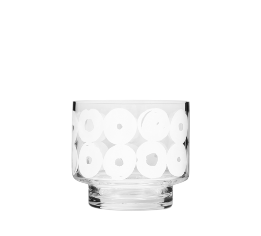 Twirl Candle Holder/Jar clear/white 8cm