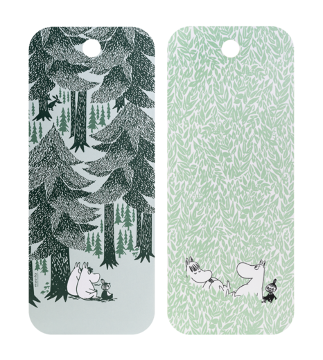 Moomin Chop & Serve serving/cutting board, 18x44cm, In the Depth of the Forest